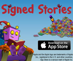 ITV Sign Stories - App button